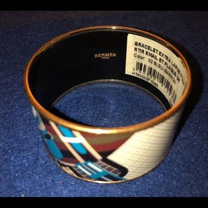 100% Authentic Hermes Enamel Bangle Bracelet